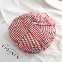 цены Hot Fashion Lady Autumn Winter Berets Hat French Artist New Design Style Bow-knot Knitted Beanie Hat Lattice Headwear Berets
