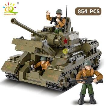 "Конструктор HUIQIBAO ""Танк Т-34"", 854 шт. 2"