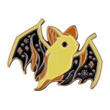 Хэллоуин эмали штырь призрачная летучая мышь Броши для женщин