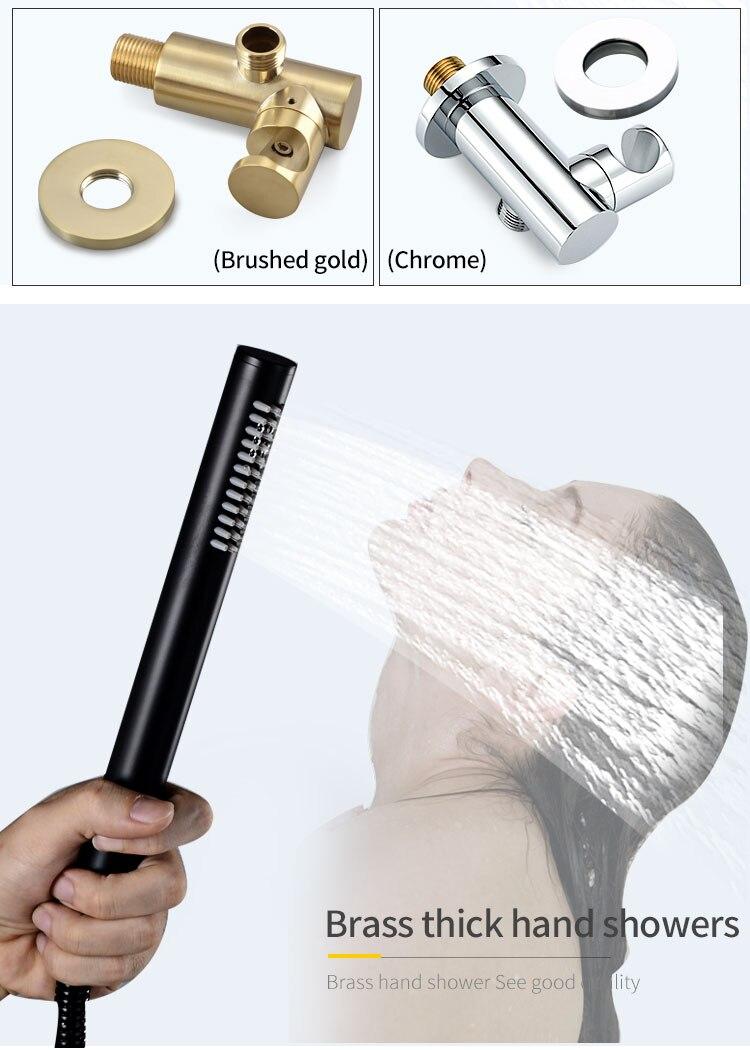 H1af45b4141a74882a0fc1aa2a3376280j Wall Mounted Bathroom Top Sprayer Brushed Gold Shower Faucet Set