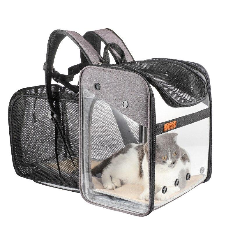 Сумка для переноски кошек, прозрачный сетчатый дышащий рюкзак, рюкзак для кошек и собак, рюкзак для переноски домашних животных, sac de transport chat|Перевозки для животных|   | АлиЭкспресс