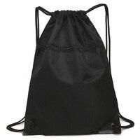 Unisex Kordelzug Einfache Sport Rucksack Für Männer Frauen Neue Mode Fitness Training Reise Leichte Rucksack Tasche
