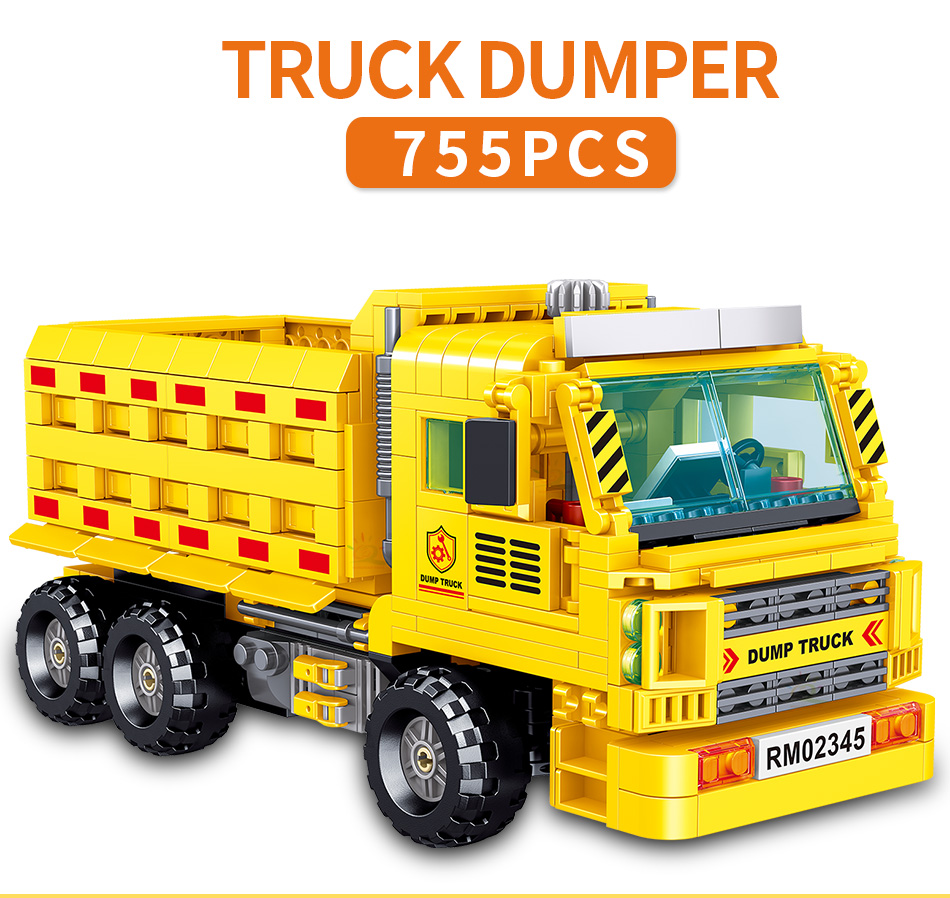"конструктор huiqibao ""грузовик-самосвал"", 755 шт."