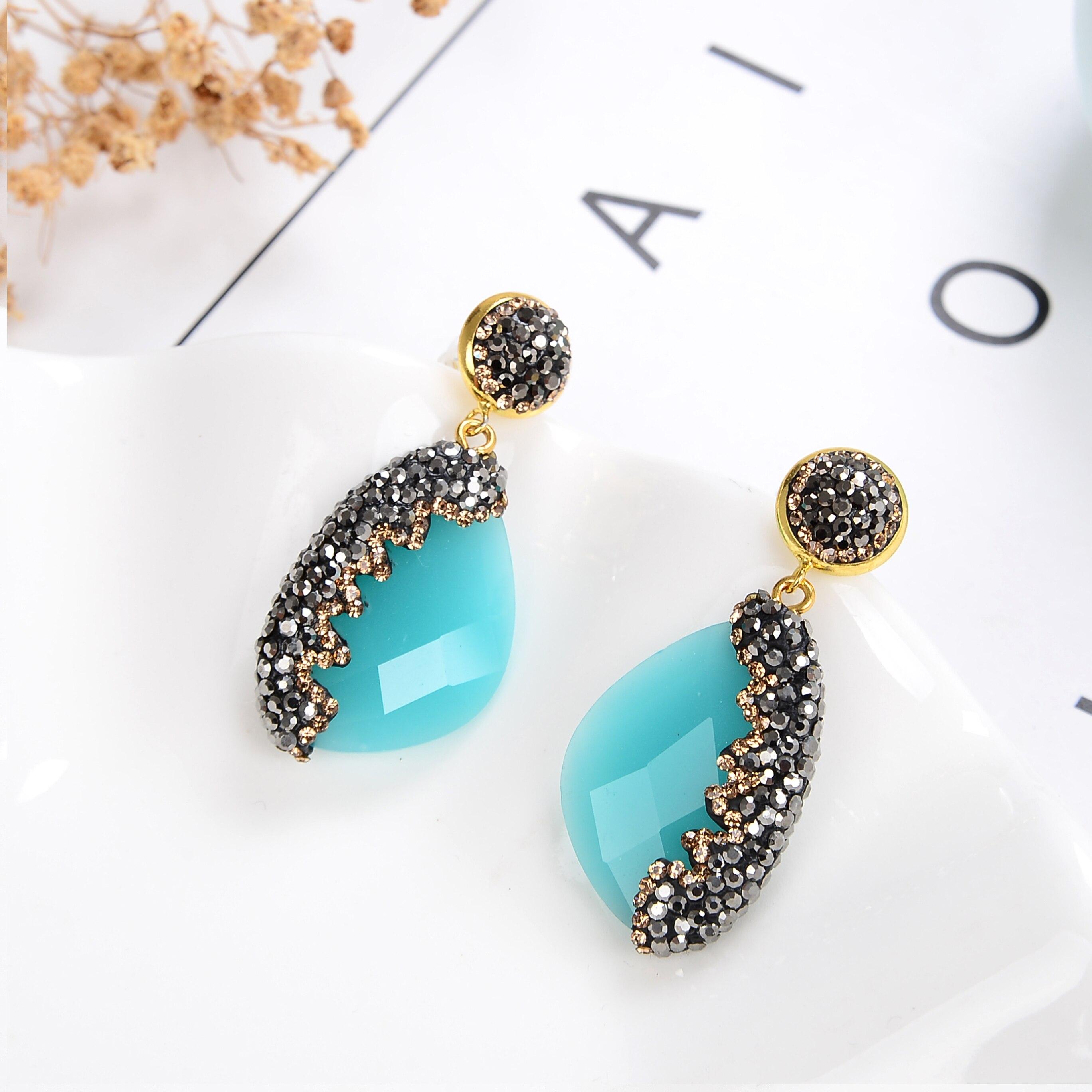 11 Style Luxury Geometric Drop Earrings For Women Girls 2020 Charm Rhinestone Dangle Earring Ladies Wedding Jewelry Gifts