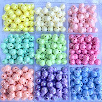 Акриловые бусины для изготовления ювелирных изделий Macaron, одноцветные бусины AB, круглые бусины DIY, пластиковые бусины ручной работы|Бусины|   | АлиЭкспресс