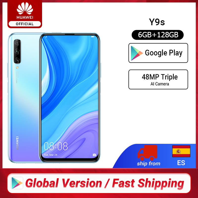 "In stock Premiere Global Version Huawei Y9s 6GB 128GB 48MP Smartphone Triple AI Cameras Auto-<font><b>Pop</b></font> <font><b>Up</b></font> Front <font><b>Camera</b></font> 6.59"" cellphone image"