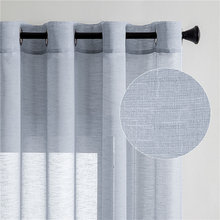 Cotton Linen Tulle Curtains For Living Room Sheer Window Curtains for Bedroom Cafe Solid Color Cortina Window Beige White