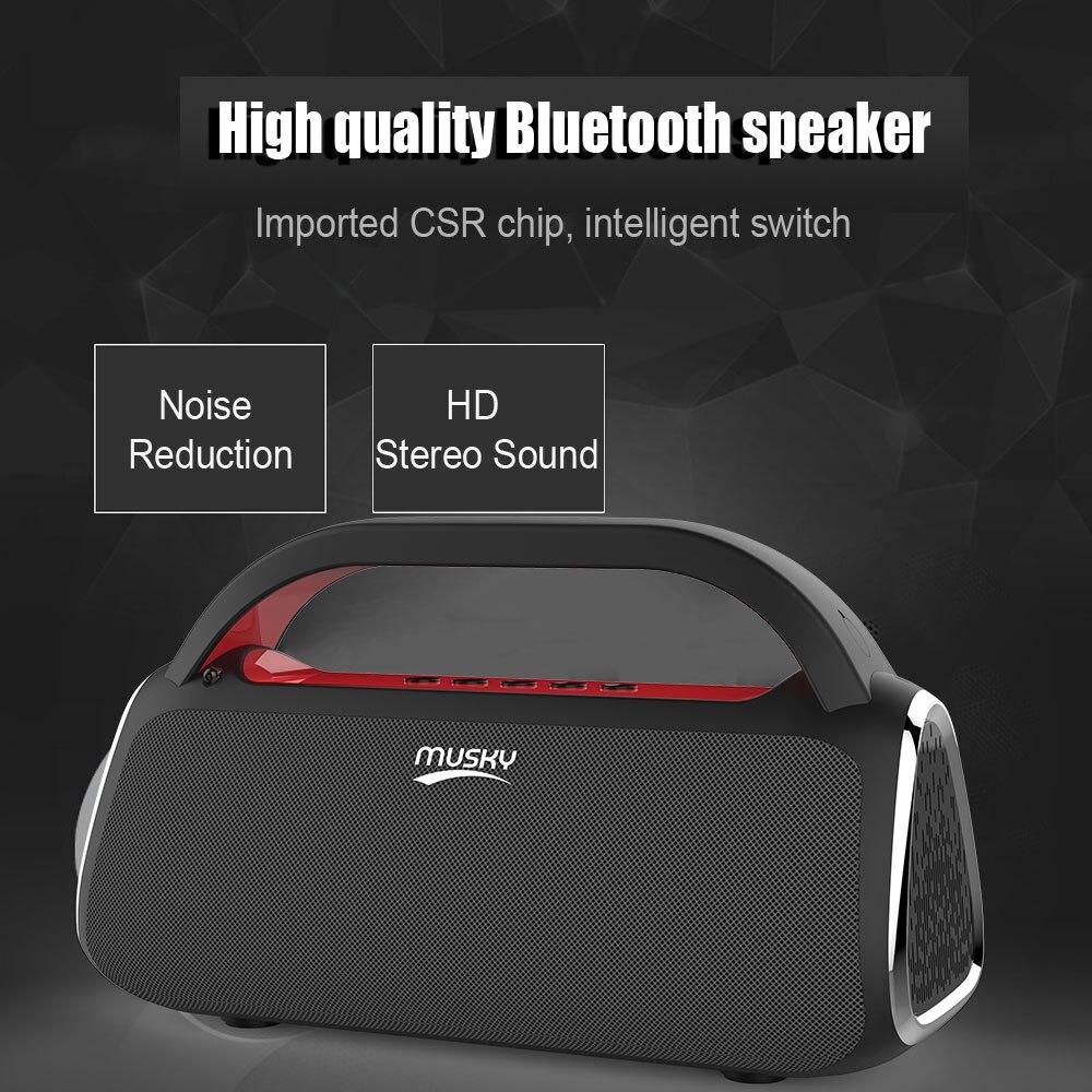 Portable Sans Fil Bluetooth Haut-Parleur Subwoofer Stéréo Téléphone Haut-Parleur D'ordinateur USB Charge Colonne Batterie Puissance Barre de Son Radio FM