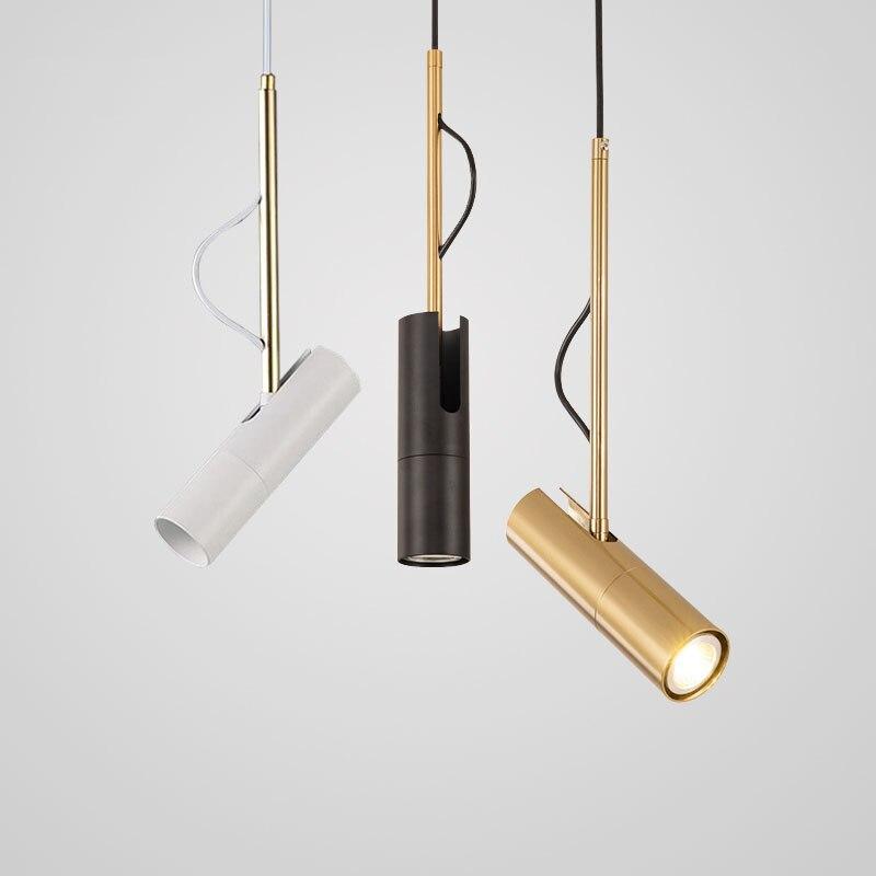 LukLoy LED spot rotatif lampe suspension nordique moderne lampe suspendue salon vetement lampe noir lampe barre or lampe blanc