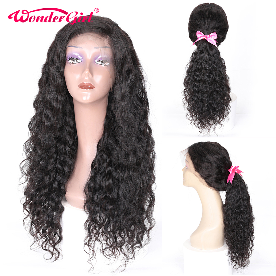 Wonder girl 13x6 Lace Front Human Hair Wigs Remy Brazilian Wavy Wig With Baby Hair Pre