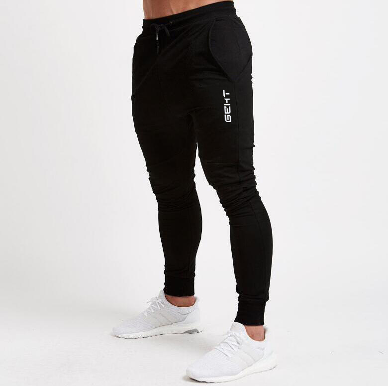 Muscle Brother Autumn And Winter Men New Style Sports Casual Light Board Slim Fit Fitness Pants MEN'S Trousers Skinny Jogger Pan