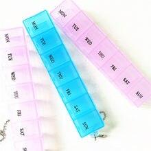 Pojemnik na tabletki w podróży uchwyt skrzynki tygodniowy pojemnik do przechowywania medycyny pojemnik na leki dozownik na tabletki niezależne kraty plastikowe opakowanie na leki