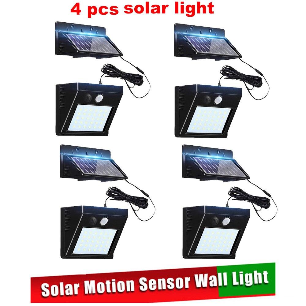 2/4pcs 100/56/30 LED Solar Light Motion Sensor Outdoor Solar Wall Light Lamp Lighting For Garden Yard Path Street Solar Lamp Spl