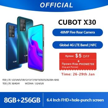 Cubot X30 8GB Smartphone 48MP Five Camera 32MP Selfie NFC 256GB 6.4