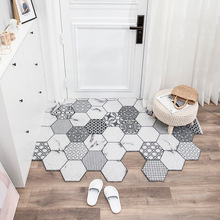 Entrance Mat Cuttable Door Mat Carpet Silk Loop Materia Anti-Slip Dust-Proof Floor Mats Carpet Shape Geometric Pattern Mats
