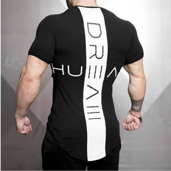 Summer Men Short sleeve t shirt Slim Absorb sweat breathe freely T-shirt Male quick-drying printing Fashion Casual clothing