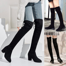 JODIMITTY Size35-41 Winter Over The Knee Boots Women Stretch Fabric Thigh High Sexy Shoes Woman Long Bota de mujer(China)