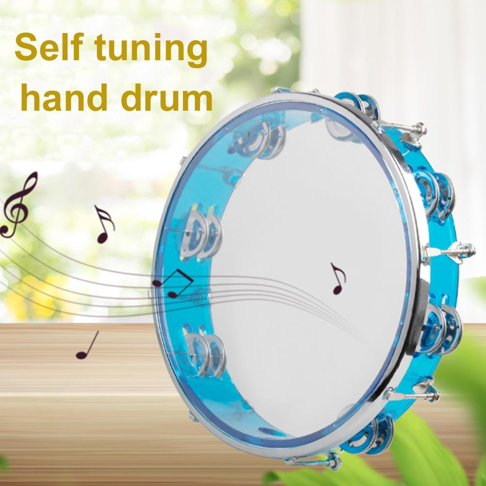 Self-tuning Tambourine Handbell Hand Drum Percussion Musical Cajon Drum Instrument Companion Accessories Toy Jingle Percussion