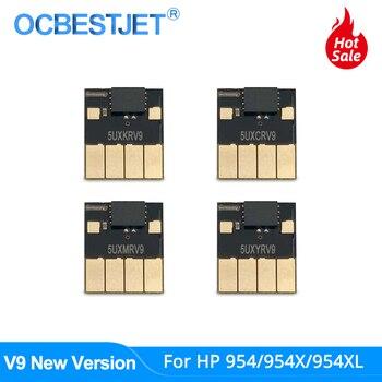V9 nuevo 954 Chip ARC para HP 954 954XL Chip de reinicio automático para HP Officejet Pro 7740 8210 8710 8715 8720 8725 8730 8740 Chip permanente