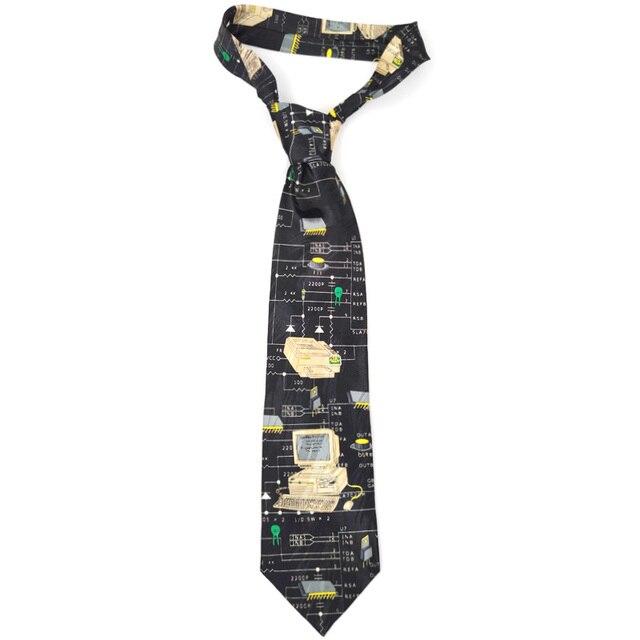משלוח חינם חדש זכר גברים של מקורי עיצוב כיף נשי מחשב דקורטיבי חולצה מגמת אישית הדפסת עיצוב אירופה ncktie