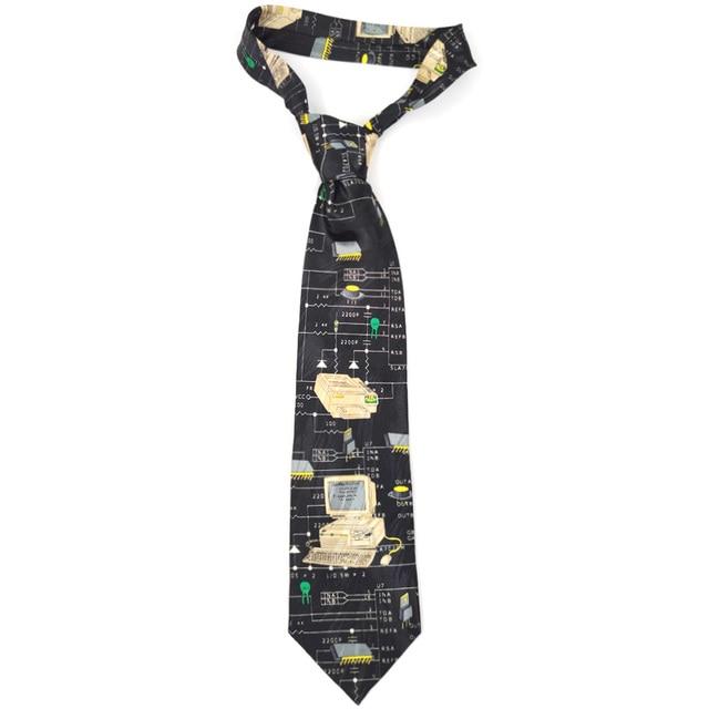 Free Shipping New Male mens Original design Fun computer female decorative shirt trend personalized print design Europe ncktie