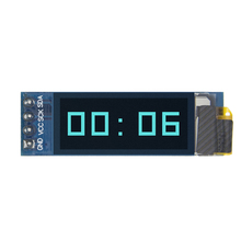 "10pcs 0.91 inch OLED module 0.91 ""blauw OLED 128X32 OLED LCD LED Display Module 0.91"" IIC Communiceren D34"