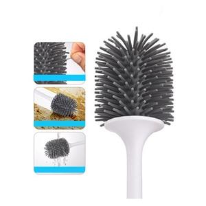 Image 4 - LEDFRE soporte para escobilla de baño, juego de cuencos, cerdas suaves, productos de limpieza de baño, hogar, GoodsLF73001