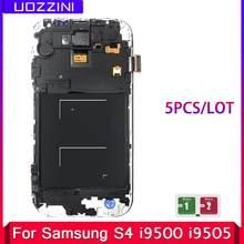 5 pçs/lote Display LCD Para SAMSUNG Galaxy i9500 i9505 i9506 S4 GT-i9505 i9515 5 i337 com Quadro Digitador Da Tela de Toque