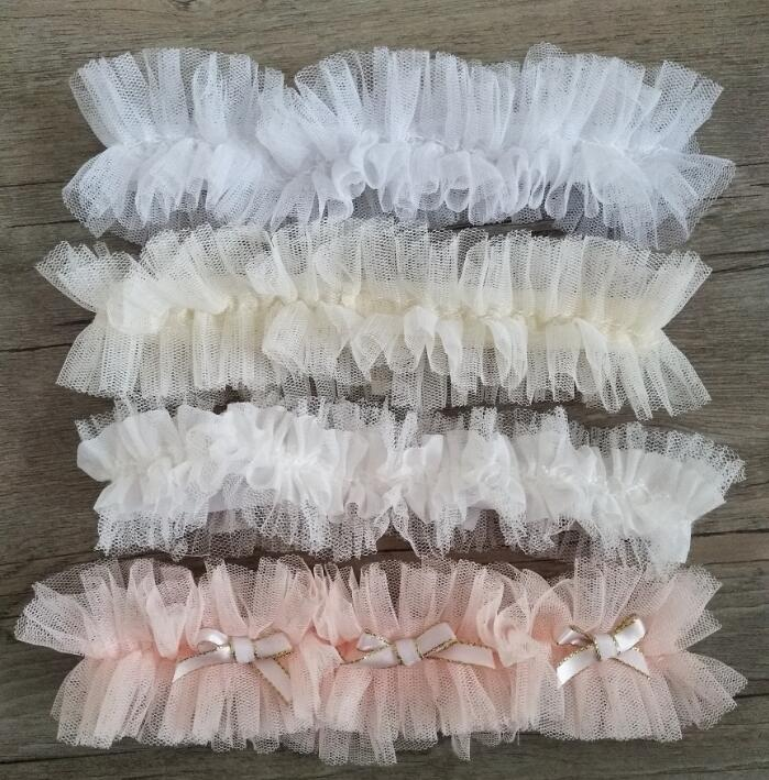Pink Wedding Garter Blush Bridal Garter Stretch Tulle Garter Bow Sexy Garter Keepsake Leg Garter
