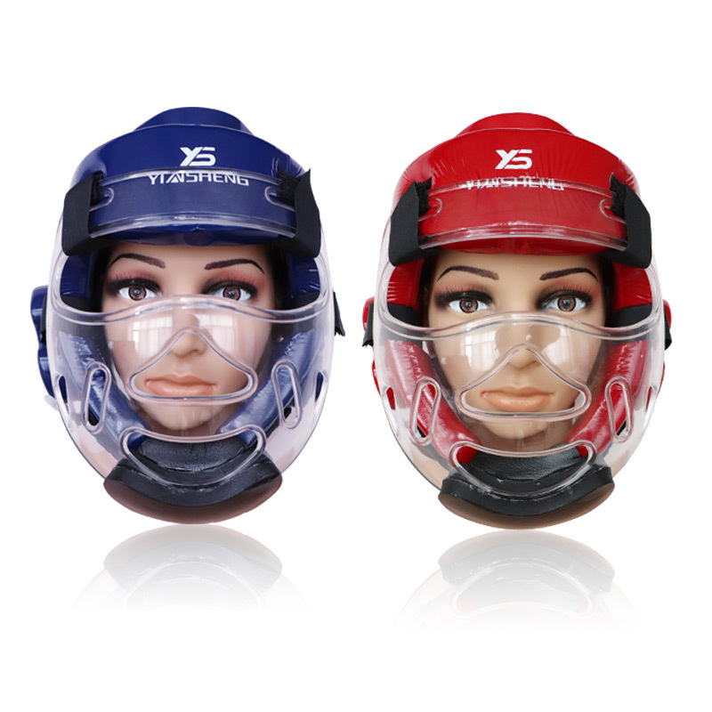 Taekwondo Protective Gear Face Protection Transparent Protection Mask Karate Care Face Head Guard Helmet Mask Strong Deconstruct