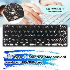 LEORY DZ60 60% Layout PCB Type-C Interface Custom Mechanical Keyboard PCB Board Support Customization(China)