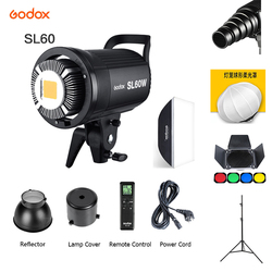 Godox SL-60W LED Video Light SL60W 5600K White Version Video Light Continuous Light Bowens Mount for Studio Video Recording
