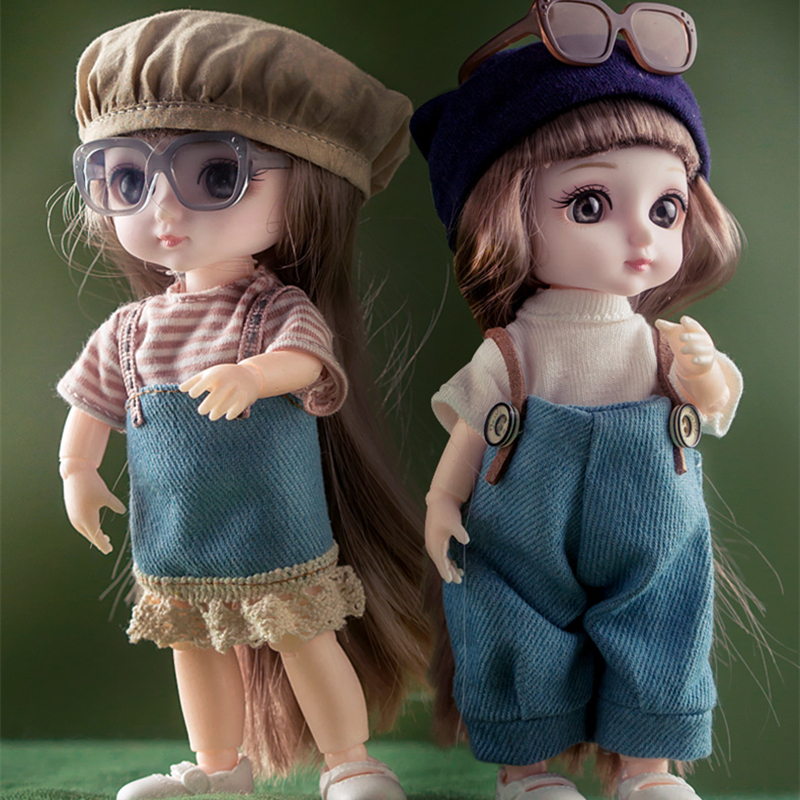 New High Quality 1/12 13 Moveable Jointed 16cm Dolls Lovely Bjd Doll with Clothes and Shoes Dress Up Dolls Toy for Girls Gift|Dolls|   - AliExpress