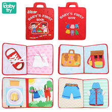 Baby Montessori Toys Cloth Books for One Year Old Kids Fabric Book for 0 12 Months Newborn My First Quiet Book for 2 to 4 Years