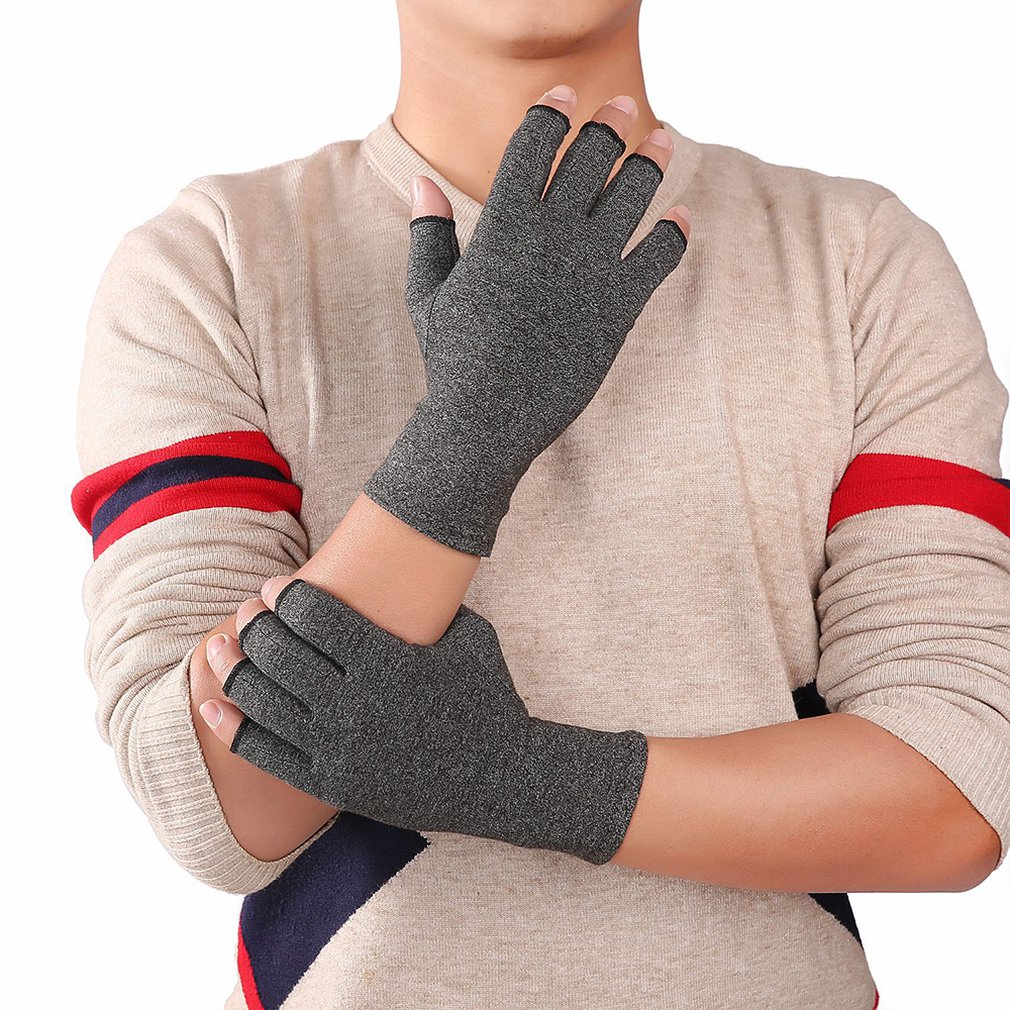 Compression Gloves Half Finger Arthritis Gloves Cycling Fitness Relief Hand Pain Pressure Gloves Therapy Join Fitness Gloved