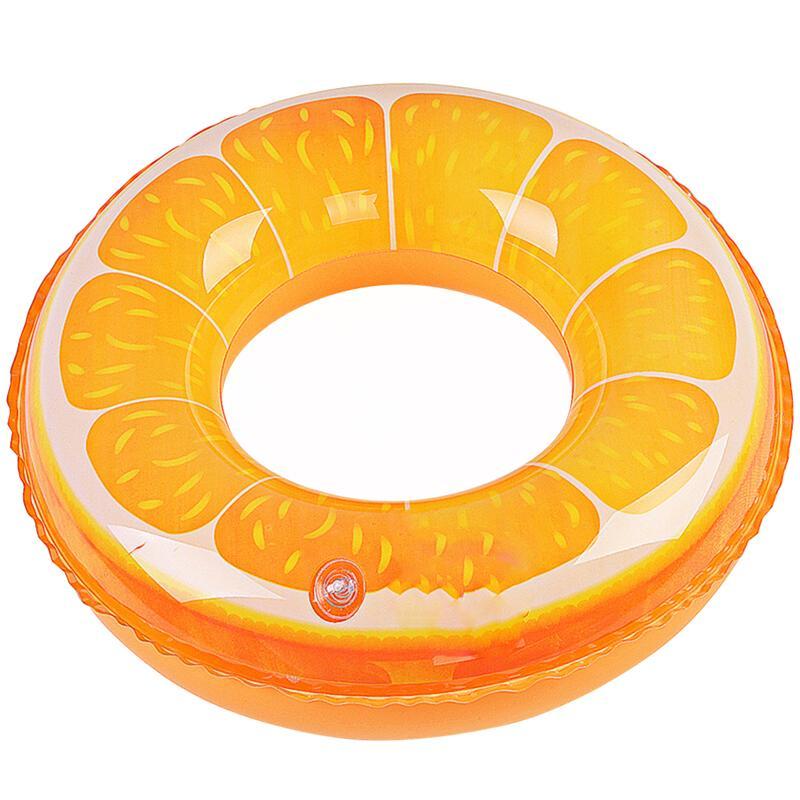 Natation flotte fruits Orange impression gonflable anneau de natation piscine plage jouets Tube pour enfants enfants