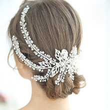цены на Floralbride Handmade Alloy Crystal Rhinestone Flower Wedding Hair Clip Barrettes Bridal Headpiece Hair accessories Women Jewelry  в интернет-магазинах