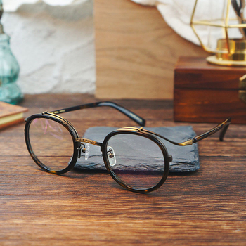 2020 Vintage Round Acetate Glasses Frame Men Women Retro Myopia Prescription Optical Eyeglasses Frame Japan Luxury Brand Eyewear acetate optical glasses frame men full retro vintage round circle prescription eyeglasses nerd women spectacles myopia eyewear