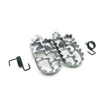 Универсальные подножки для мотокросса педаль серебристого цвета