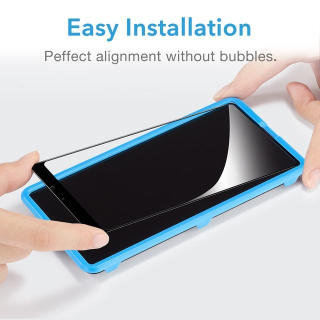 ESR For Xiaomi Mi MIX 2 2S Tempered Glass 3D 9H Anti Blu-ray Full Cover Phone Screen Protector glass xiaomi mi mix2s mix 2 s 6