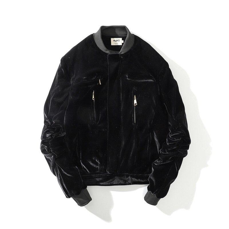 Automne hiver hommes épais chaud en vrac velours flanelle bomber veste Streetwear haute qualité homme surdimensionné décontracté manteaux pour vêtements de dessus - 3