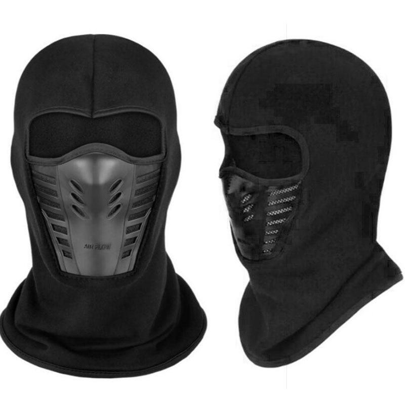 Fleece Balaclava Windproof Motorcycle Full Face Mask Winter Anti Dust Face Shield Guard Mask Outdoor Balaclava Masque Mascarilla