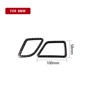 Image 5 - עבור BMW F10 5 סדרת 2011 2017 פנים סיבי פחמן רכב CD בקרת פנל פנים מדבקת AC פנל מסגרת אביזרי לשקע אוויר