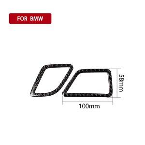 Image 5 - Per BMW F10 5 Serie 2011 2017 In Fibra di Carbonio Interni Auto CD Pannello di Controllo Interno Adesivo AC Pannello Con Cornice uscita aria Accessori