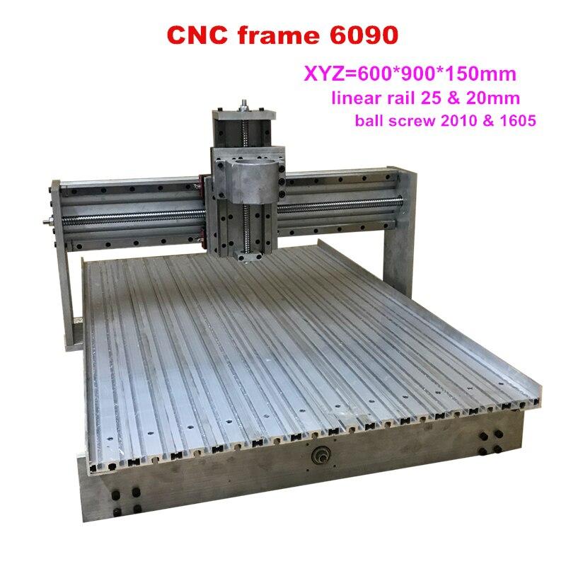 CNC 6090 Linear Rail Guideway Frame Bigger Than 6040 Engraving Machine Frame For Diy Cnc Router 6090 Ball Screw