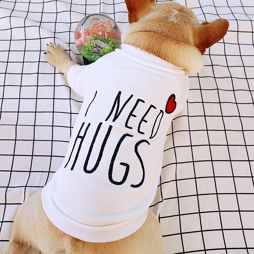 I Need Hugs Vest Cute Design Small Puppy Cat Clothing Spring And Summer Breathable Teddy Dog Cotton Clothes