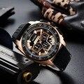 Мужские спортивные часы MEGIR с хронографом и календарем  военные часы  кварцевый Кремний ремешок  мужские часы