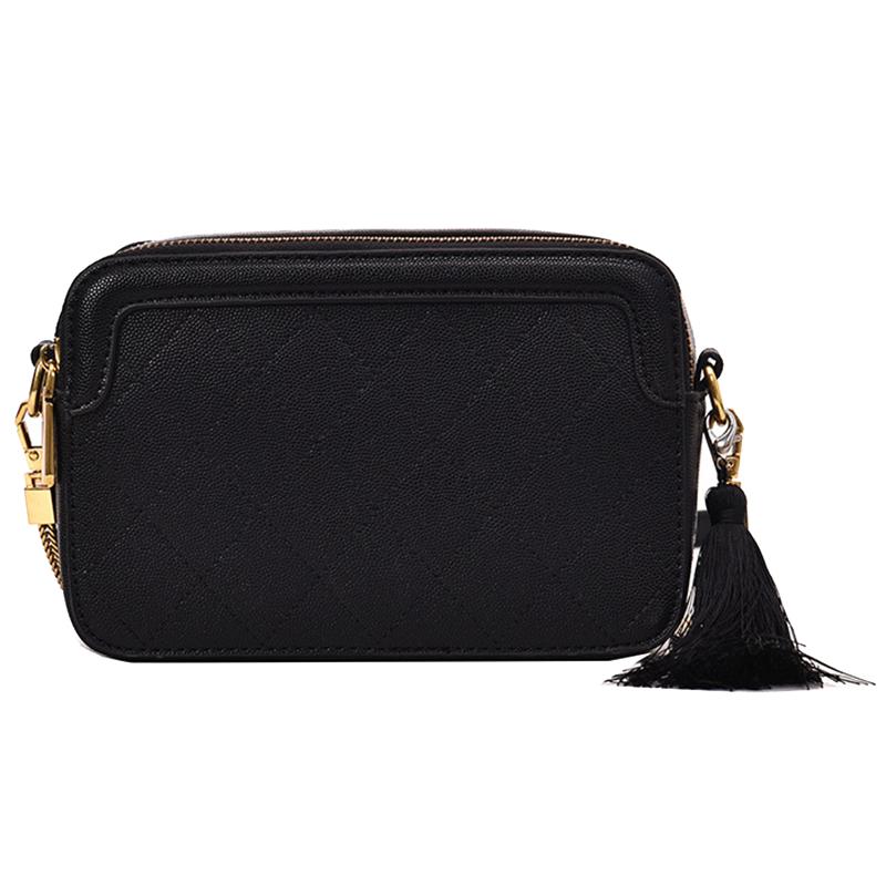 New Snake Skin Small Square Bag Simple Tassel Handbag Tide Korean Version Of the Shoulder Messenger Bag