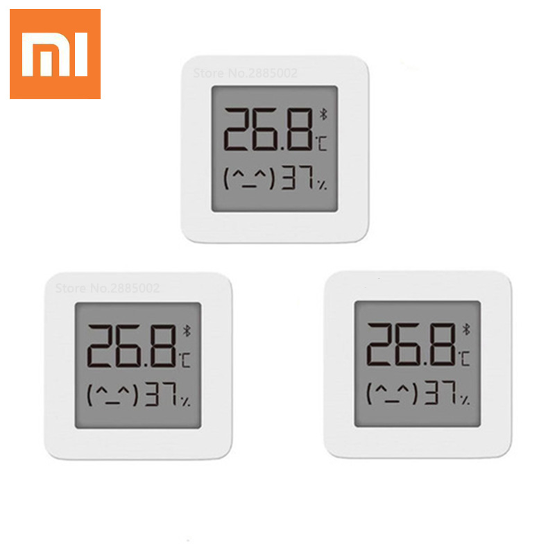 Xiaomi Mijia Bluetooth Thermometer 2 Wireless Smart Electric Digital Hygrometer Thermometer Indoor Sensor Work With Mijia APP