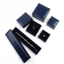 New Wholesale jewelry packaging box in blue Composite materials for ring pendant bracelet Jewelry accessories for women(China)